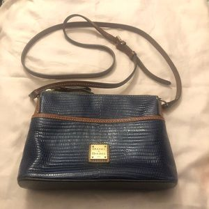 Dooney & Bourke ginger croco small blue crossbody